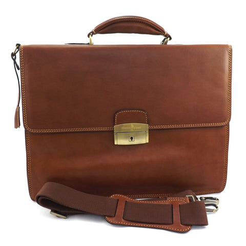 Gianni Conti Double Gusset Briefcase - Style: 911225