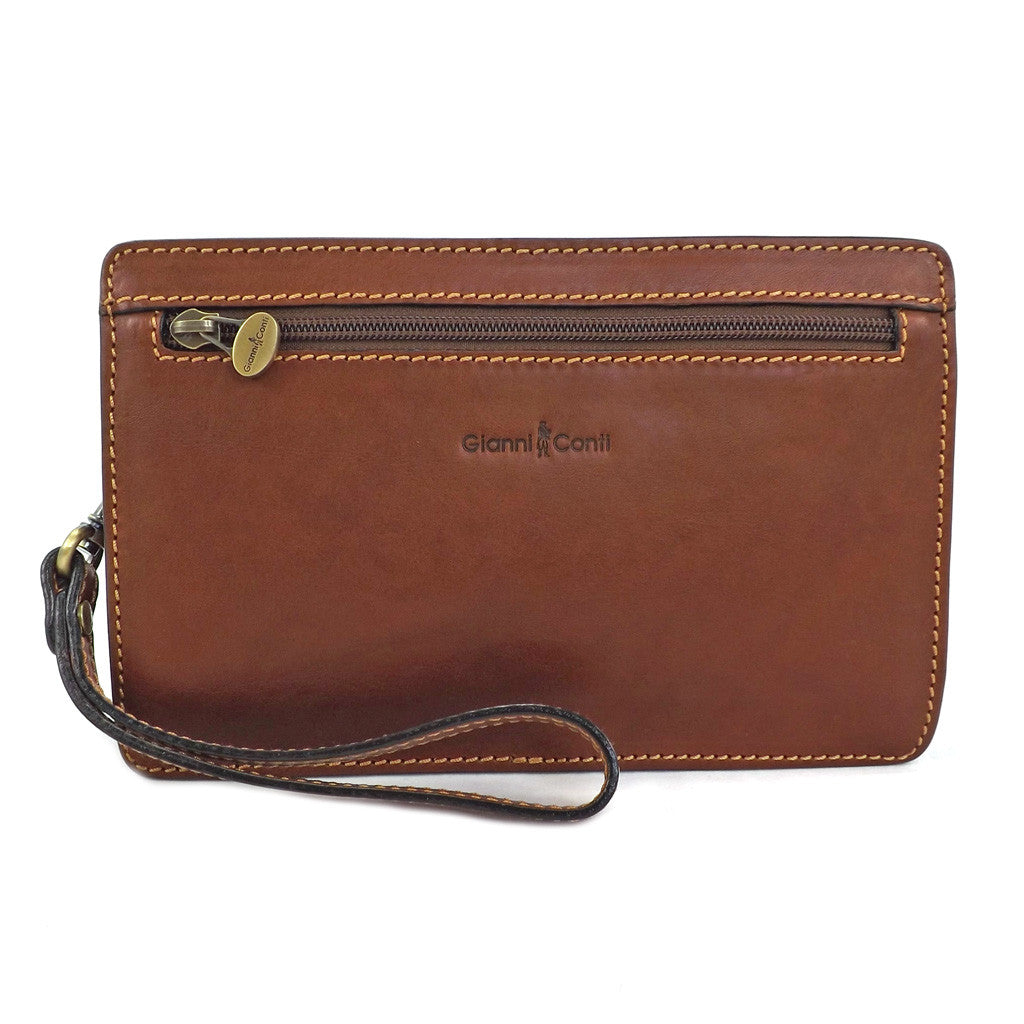 Gianni Conti Gents Leather Wrist Bag - Style: 912019