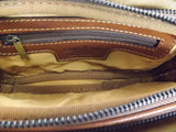 Gianni Conti Leather Wrist Bag / Large Wallet Purse - Style: 912200
