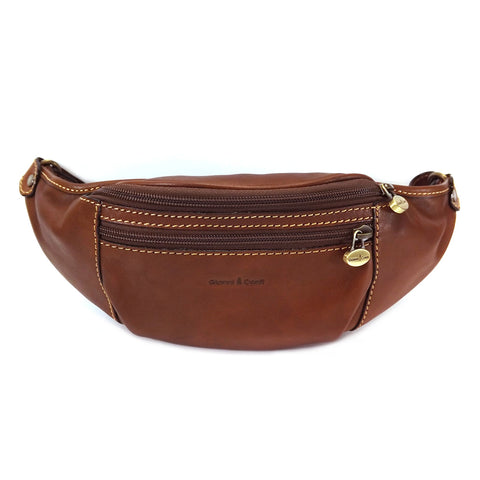 Gianni Conti Tan Leather Bum / Waist bag - Style: 915055