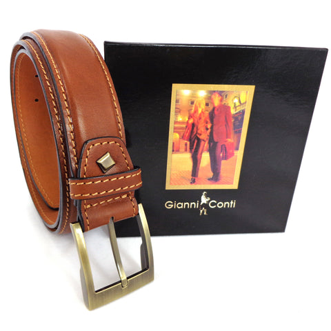 Gianni Conti Leather Belt -Tan - Style 915120