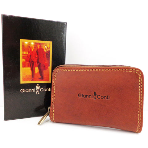 Gianni Conti Leather Credit Card Holder - Style: 917173
