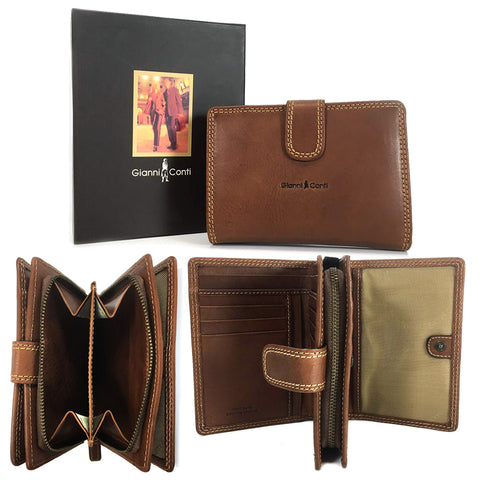 Gianni Conti Wallet Purse - Style: 918086 Tan