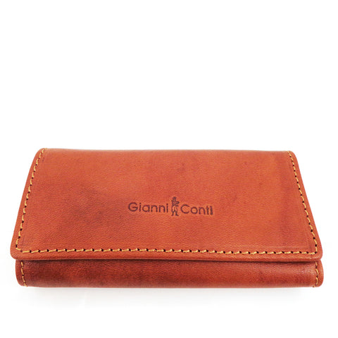 Gianni Conti Leather Key Case - Tan - Style: 919707