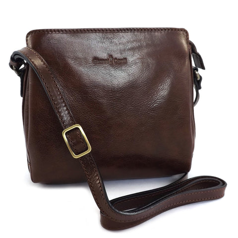 Gianni Conti Zip Top Across Body or Shoulder Bag - Style: 9403124