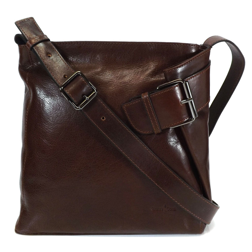 Gianni Conti Shoulder /Cross Body Bag- Style: 9403444 Brown
