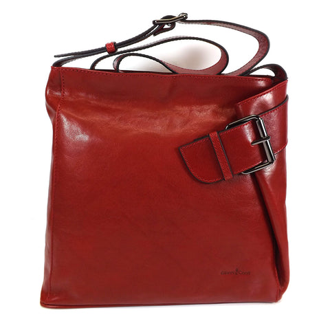 Gianni Conti Long Handle Shoulder Bag - Style: 9403444 Red