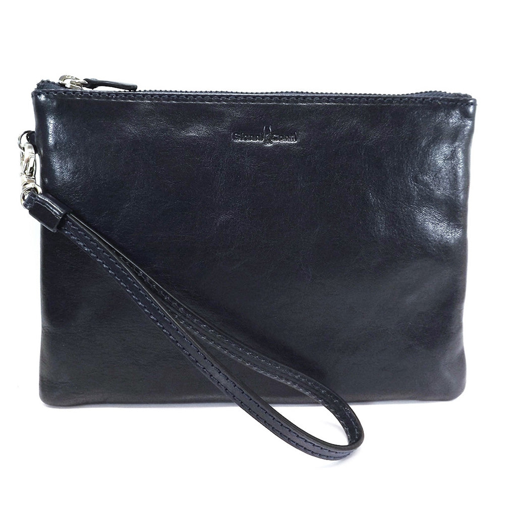 Gianni Conti Leather Wrist / Clutch Bag - Style: 9405070 - Blue