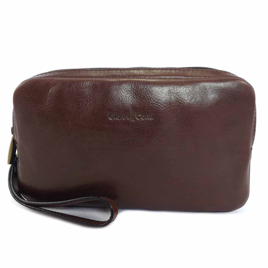Gianni Conti Leather Wash Bag - Style: 9405158