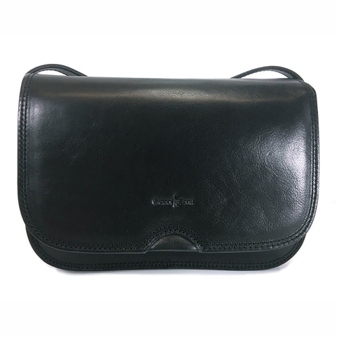 Gianni Conti Classic Flap Front Bag - Style: 9406005 Black