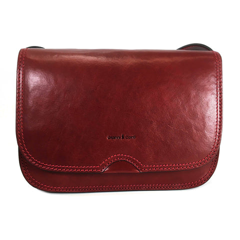 Gianni Conti Classic Flap Front Bag - Style: 9406005 Red