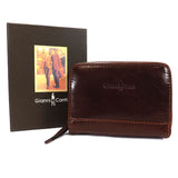 Gianni Conti Leather RFID Credit Card Holder - Style: 9407052 Brown