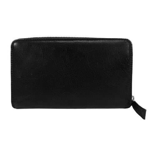 Gianni Conti Purse - Large Leather Zip Around - Style: 9408106 - Black