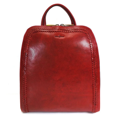 Gianni Conti Smart Leather Rucksack - Style: 9416135 - Red