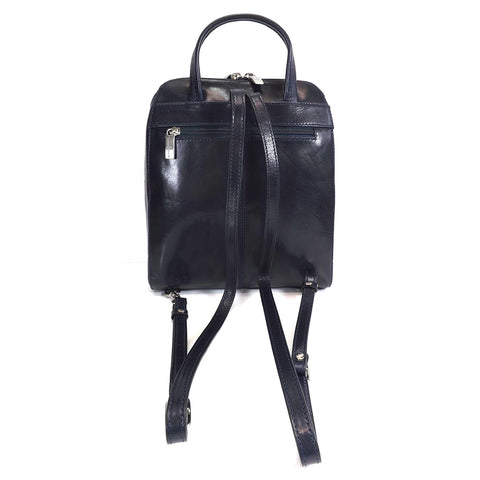Gianni Conti Smart Leather Rucksack - Style: 9416135 - Jeans Blue