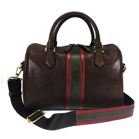 Gianni Conti Medium Grab Handle / Multiway Bag - Style: 973865 - Dark Brown Multi