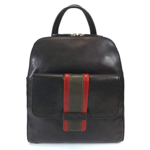 Gianni Conti Smart Leather Rucksack - Style: 973876 - Black Multi