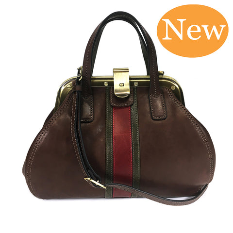 Gianni Conti  Small Gladstone Bag - Style: 973882 - Dark Brown Multi