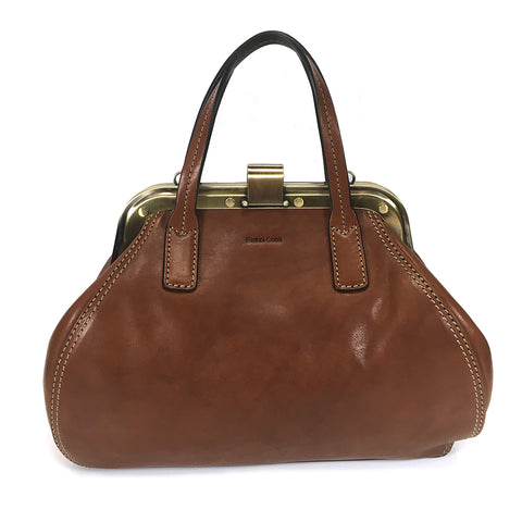 Gianni Conti Small Gladstone Bag - Style: 973882 - Tan Multi
