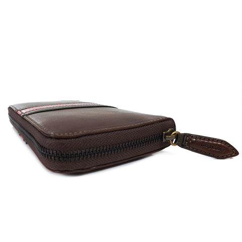 Gianni Conti Leather Purse - Large Zip Around - Style: 978106 - Dark Brown Multi