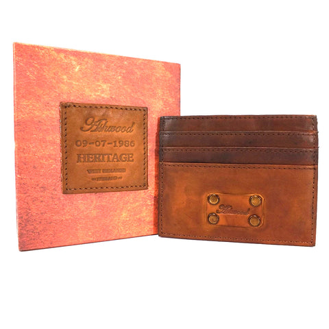 Ashwood Shoreditch Leather Credit Card Holder - Style: 1778 Tan