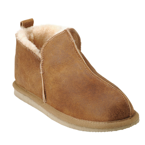 Shepherd Sheepskin Bootee Slipper - Style: Anton 4921 Antique Cognac