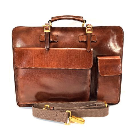 The Bridge Twin Gusset Briefcase - Style: 06436901