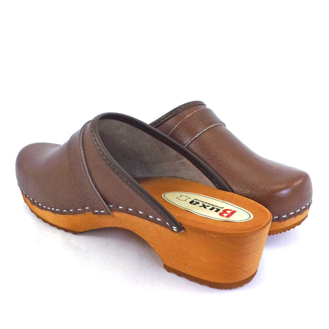 Buxa Traditional Wooden Clog - Brown
