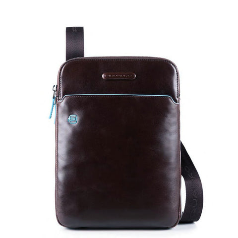 Piquadro Leather Cross Body Bag with Padded Tech Pocket CA3978B2 Mahogany