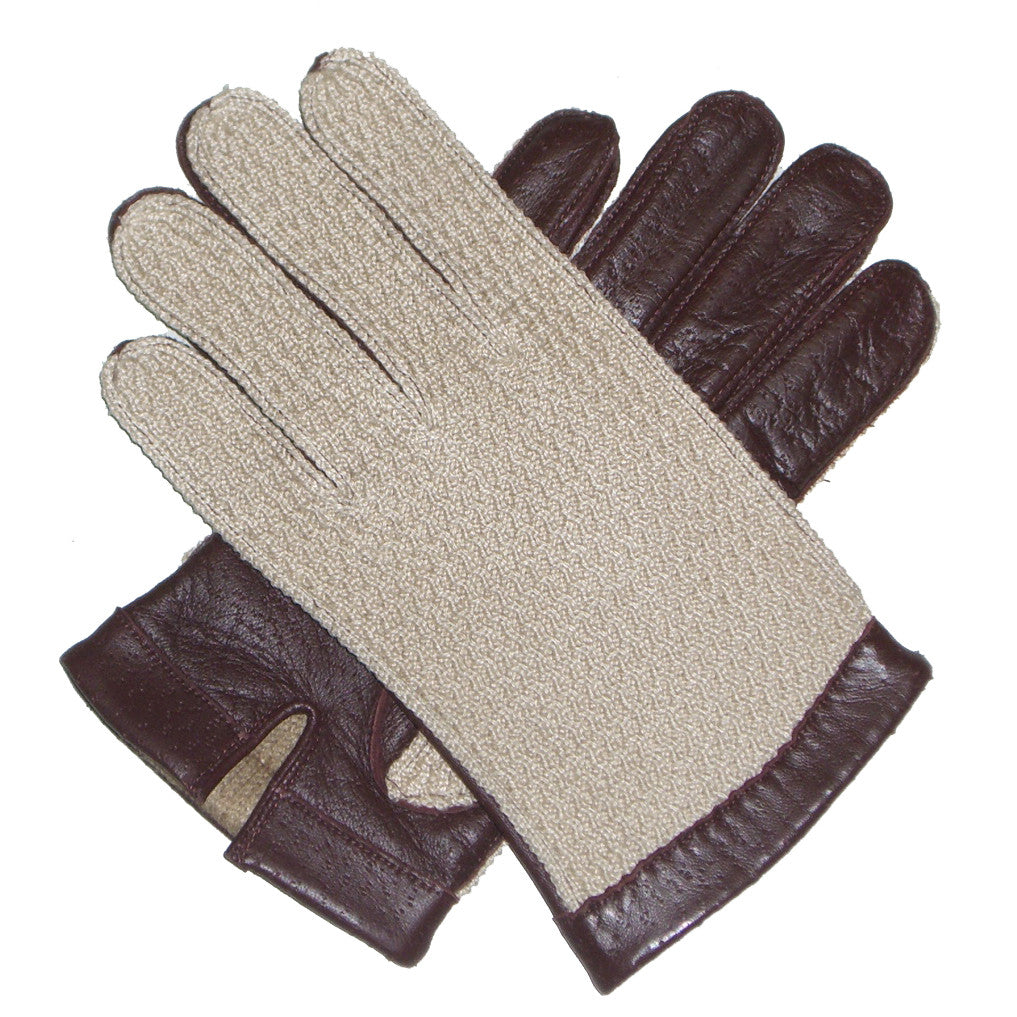Dents Cotswold  Mens Warm Lined Crochet Back Leather Driving Gloves - Style: 51591