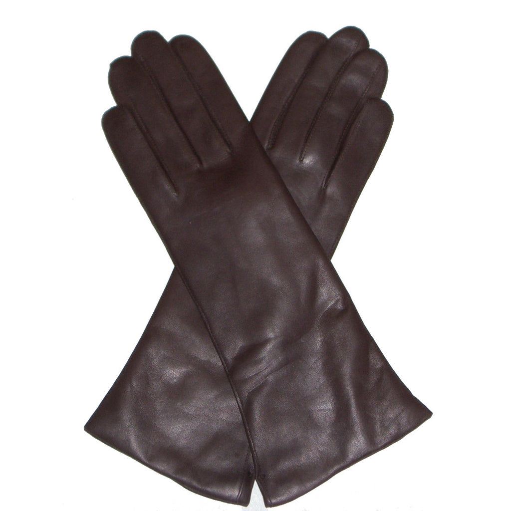 Black or brown leather gloves - Dents Helene Women S 100 Cashmere Lined Long Plain Leather Gloves Black Or Brown