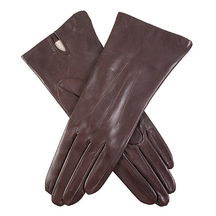 Dents Felicity Women's Silk Lined Leather Gloves - Style: 7-1049