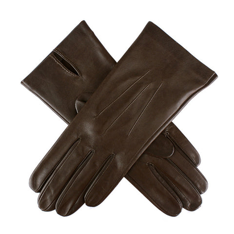 Dents Joanna Women's Unlined Classic Leather Gloves - Style: 7-0010 Mocca Brown