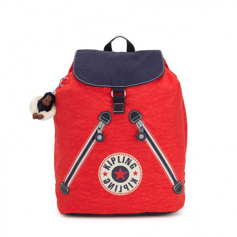 Kipling Fundamental Medium Backpack - Active Red