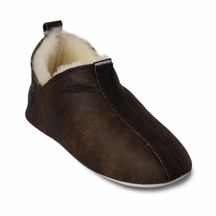 Shepherd Sheepskin Bootee Slipper - Style: Lina 6202 - Oiled Antique