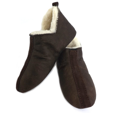 Shepherd Sheepskin Bootee Slipper - Style: Henrik 6201 - Oiled Antique