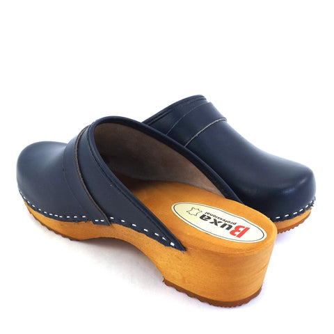 Buxa Traditional Wooden Clog - Blue