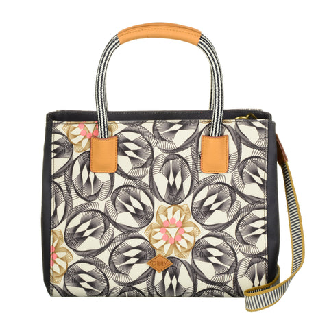 Oilily Grab Handle Multi Way Handbag - Charcoal - OES7126