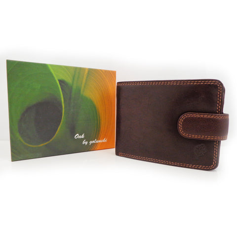 Leather Wallet by Golunski - Oak Range - Style: 7703