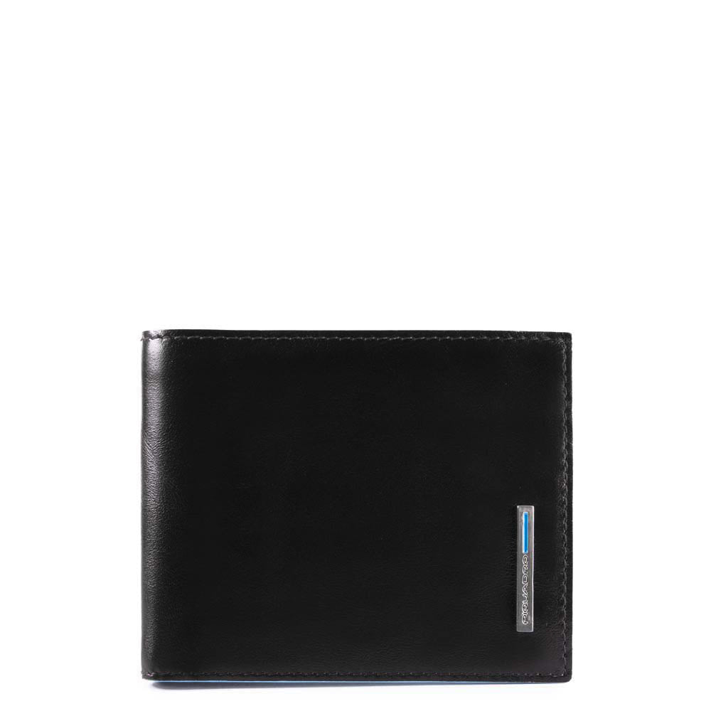 Piquadro Leather Wallet with Coin Pocket - Style: PU4188 - Black