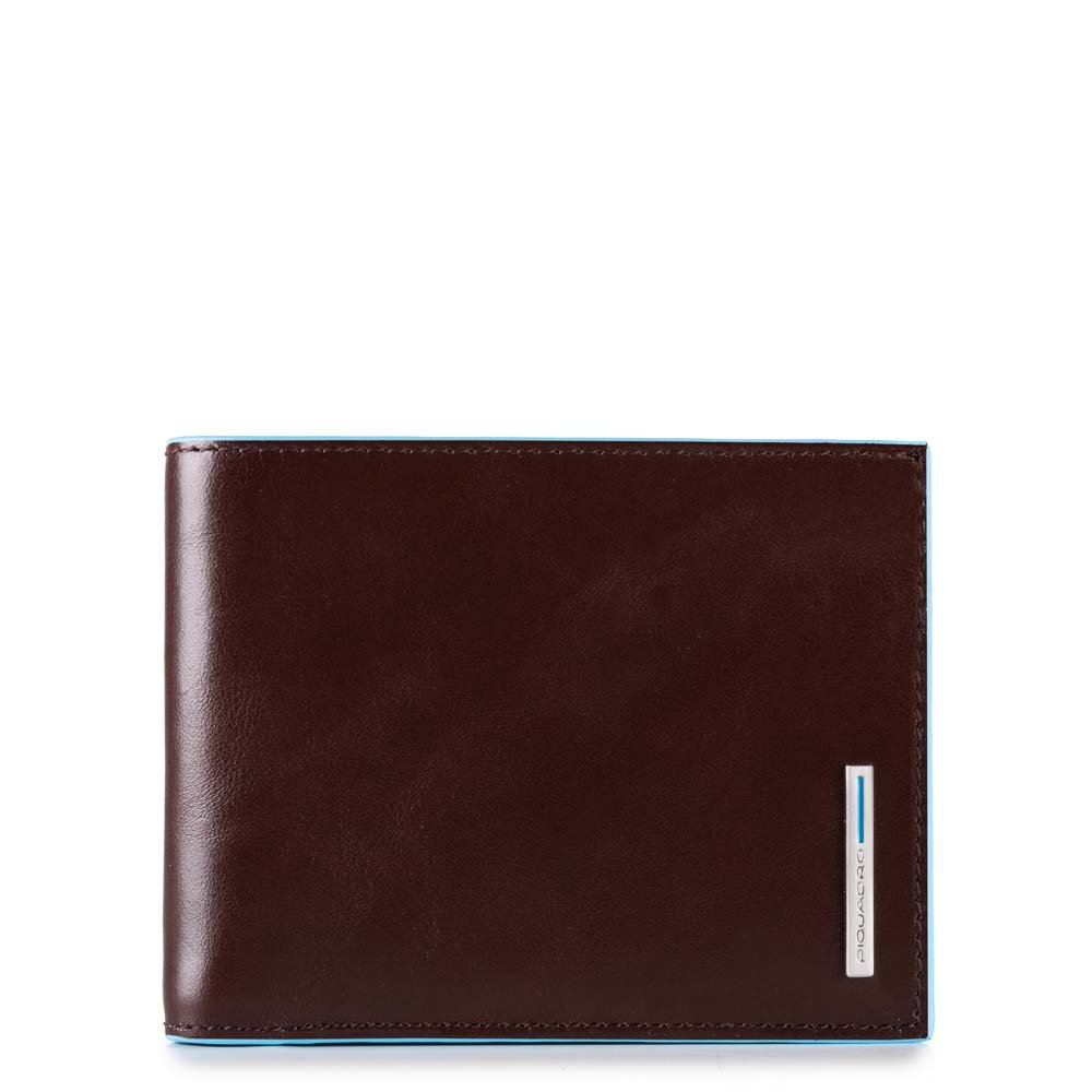 Piquadro Leather Wallet with coin pocket - Style: PU4188 - Mahogany