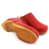 Buxa Traditional Wooden Clog - Red