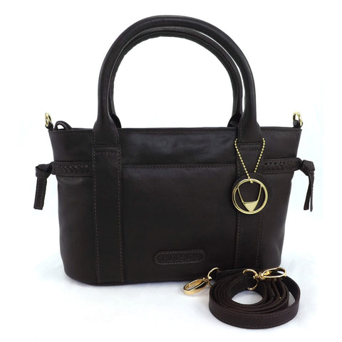Hidesign Zip Top Multiway Handbag - Laurette  02 - Brown