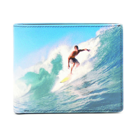 Surfer Wallet - Leather Bi-Fold Wallet - Style: 7941