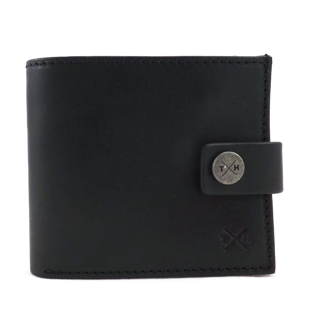 Tumble and Hide Black Leather Tab Wallet- Style: TH2102 CHK