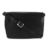 Rowallan Black Leather Flap Front Organiser Bag - Style: 31-8906