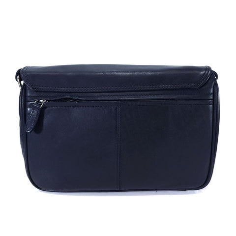 Rowallan Leather Flap Front Organiser Bag - Style: 31-8906  Navy