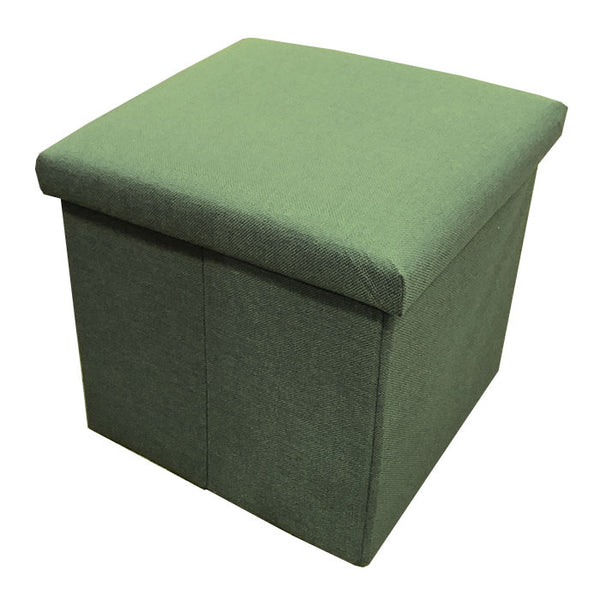 C01 Canvas Foldable Storage Ottoman (Small) - Green