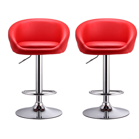BS01 High Bar Stool (Red) Set of 2