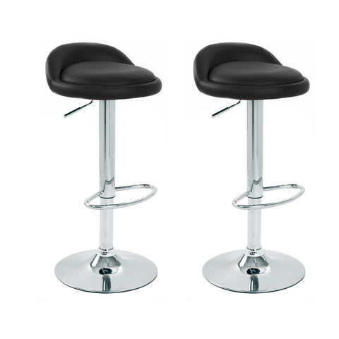 BS02 Low Bar Stool (Black) Set of 2